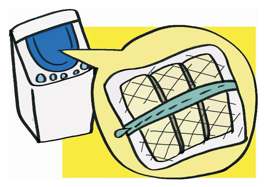 洗濯機と洗濯ネット